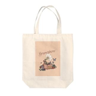 gramophone Tote bags