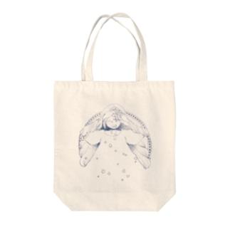 星と女の子 Tote bags