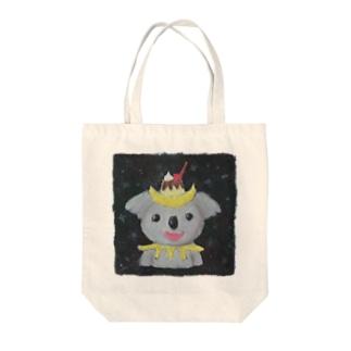 三日月プリンコアラ Tote bags