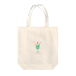 ふわふわメロンソーダ Tote bags