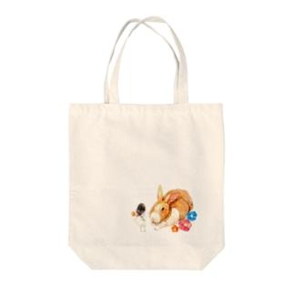 うさぎと少女 Tote bags