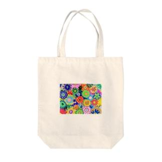 幸せを呼ぶ花 Tote bags