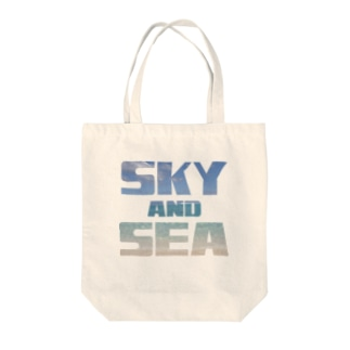SKY AND SEA  Tote bags
