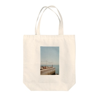 Lisbon* Terrace by the sea Tote bags