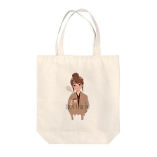 カフェでみた女の子 Tote bags