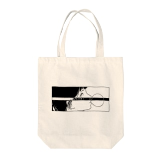 反抗少女-五月蝿イ-(black) Tote bags