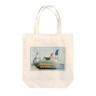 フランス海軍:ヘリ空母ジャンヌ・ダルク★白地の製品だけご利用ください!! French Navy: Jeanne d'Arc (porte-hélicoptères)★Recommend for white base products only !! Tote bags