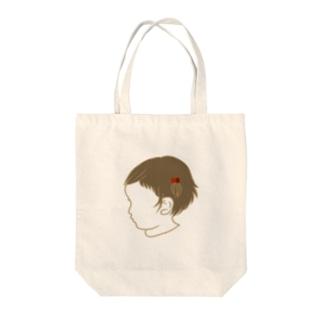 くせ毛の女のコ Tote bags