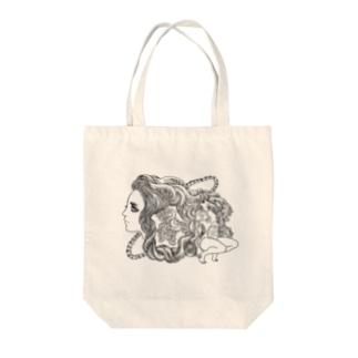 ぐるり輪 Tote bags