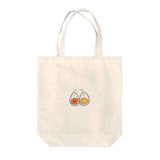 ゆでたまご Tote bags