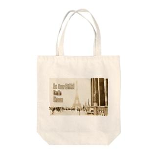 フランス:エッフェル塔 France: Eiffel Tower & Palais de Chaillot Tote bags