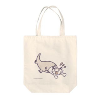 sheepshankのねこピンチ! Tote bags