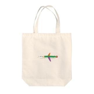 えんぴつひこーき Tote bags