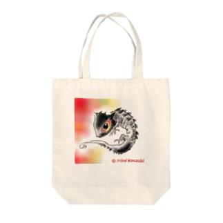 アカメカブトトカゲちゃん Tote bags