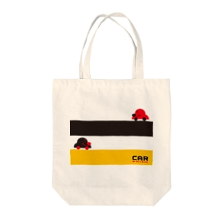 CAR(イエロー/ブラック) Tote bags