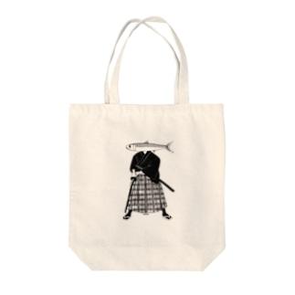 イワシ武士 Tote bags
