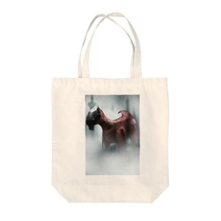 ブラインドドッグ Tote bags