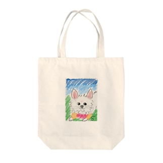 Pomeranian loves go out Tote bags