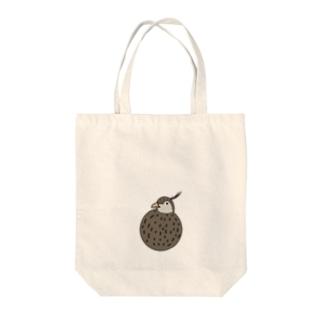 まんまるカンムリシギダチョウ Tote bags