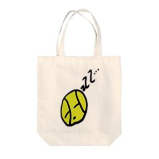 寝ているテニスボール Tote bags