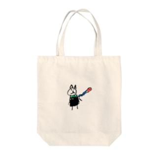 娘マフちゃん Tote bags