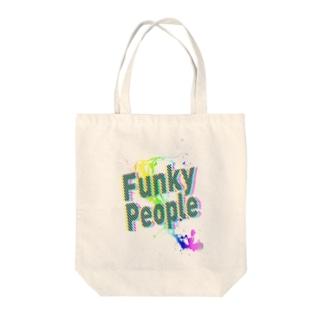 ふぁんきー Tote bags