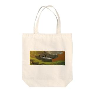 鳴子峡から覗く鉄道 Tote bags