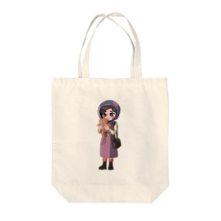 レトロガール Tote bags