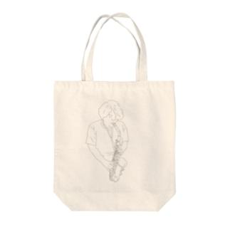 Hironori Ura Saxophone Tote bags
