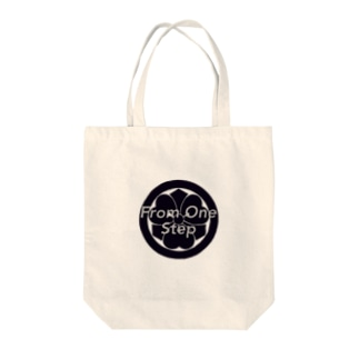 From One Step Tote bags
