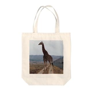 キリンさん Tote bags