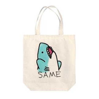 ぼってりさめちゃん!! Tote bags