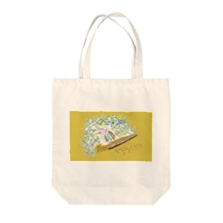 ボーットウィンのワライカワセミ Tote bags