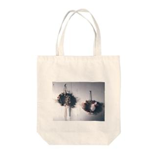 手作りクリスマスツリー Tote bags