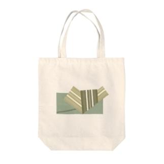 帯柄 緑系 Tote bags