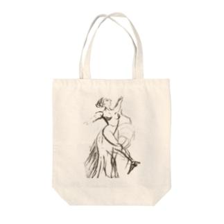 バレエダンサー Tote bags