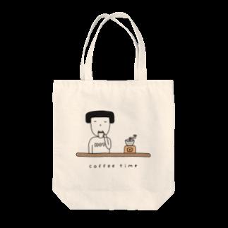 そろり屋のコーヒー女子 Tote bags