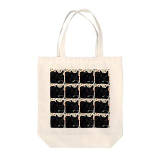 フローラルねこまみれ(もふもふ) Tote bags