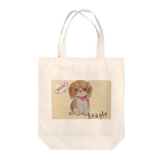 moko ビーグル犬 Tote bags