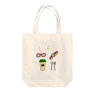 Life① Tote bags