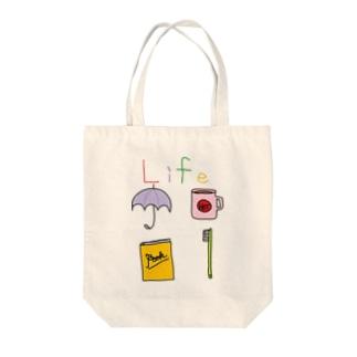 Life② Tote bags