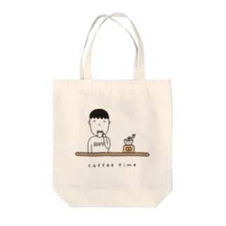 コーヒー男子 Tote bags