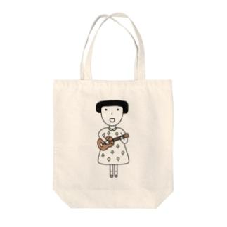 ウクレレ女子 Tote bags