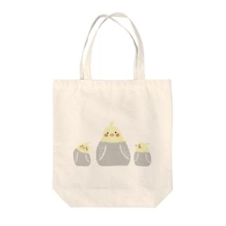 おかめ親子 Tote bags
