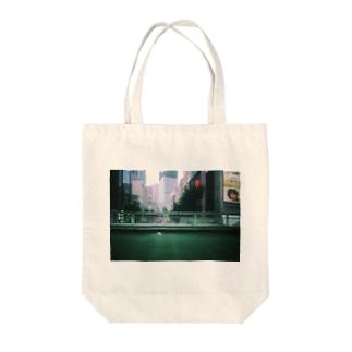 SIBUYA pedestrian overpass 渋谷 歩道橋 Tote bags