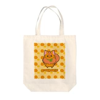 [フルーツ猫シリーズ]みかん猫のマンダリン・縁取りver. Tote bags
