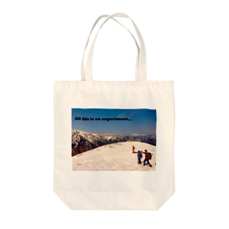All life is an experiment Tote bags