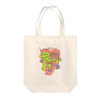 LOVE -HirocoIchinose- Tote bags