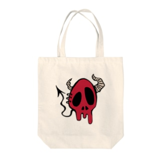 Devil Skull-Red- Tote bags
