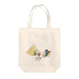 Penguin Camp Tote bags